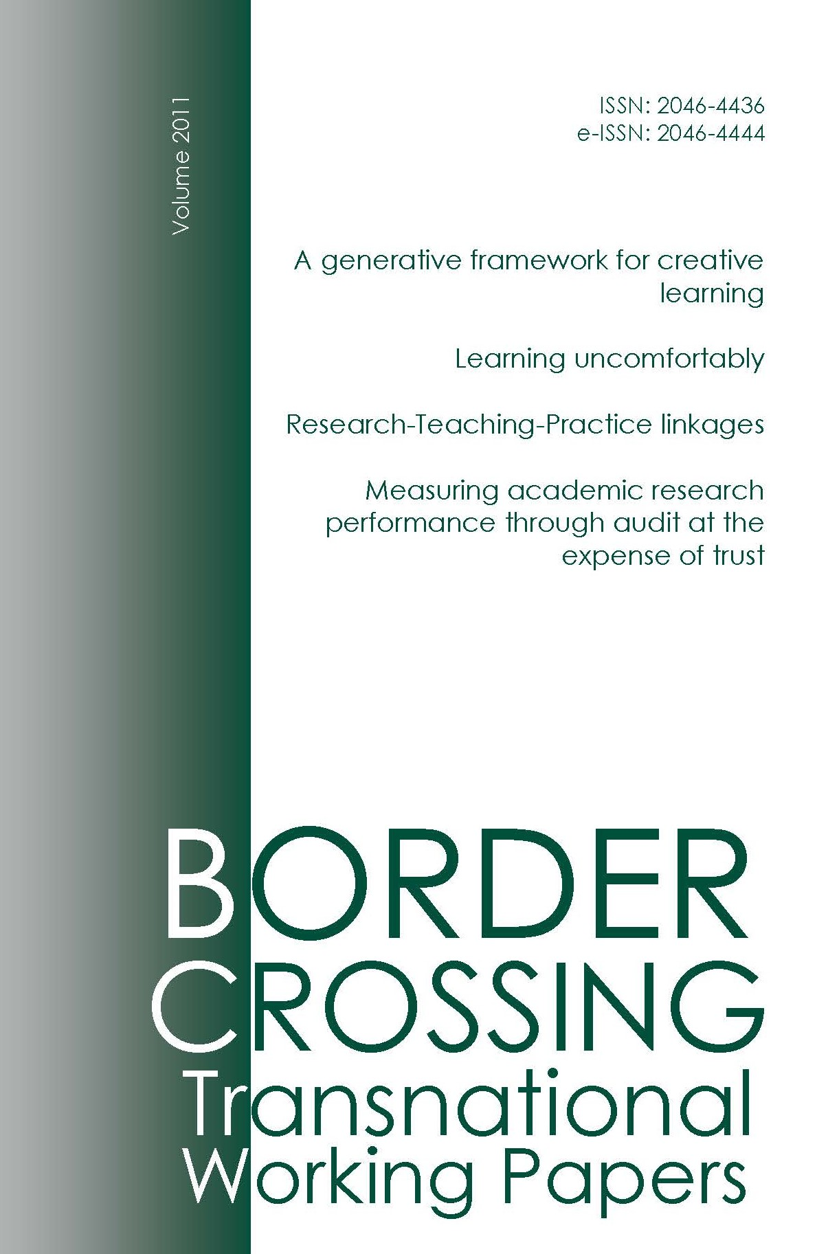 Border Crossing Transnational Working Papers 2011