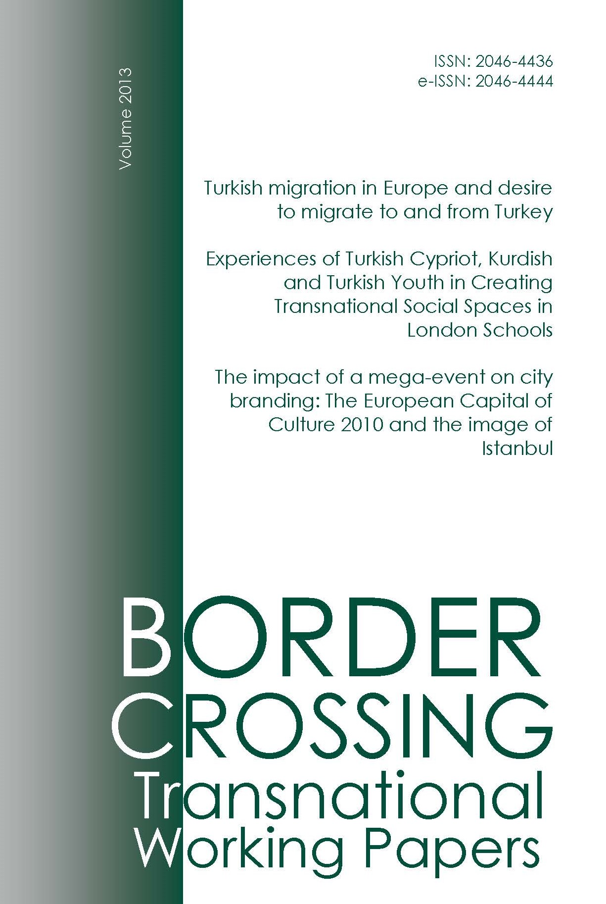 Border Crossing Transnational Working Papers 2013