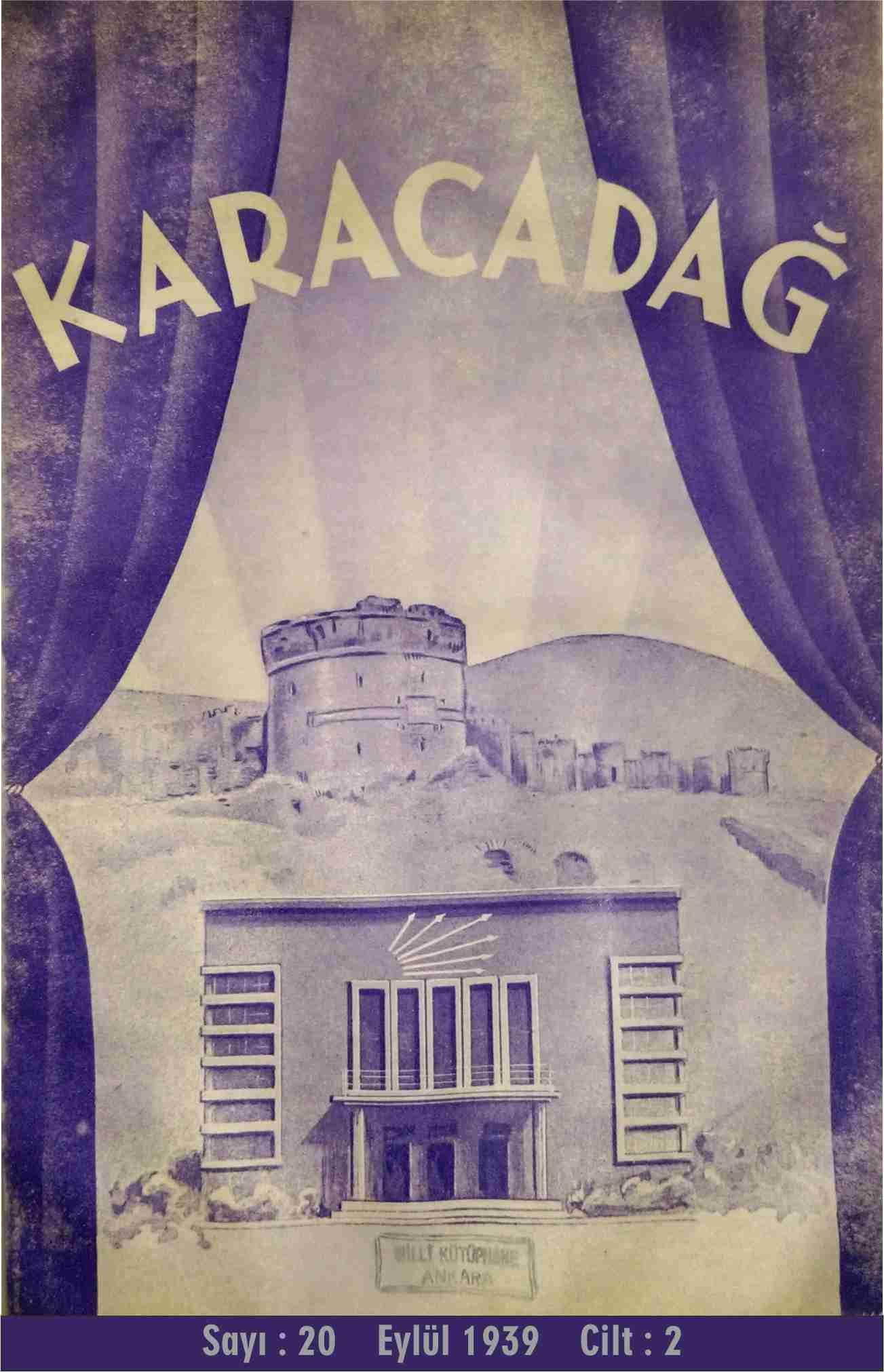 Halkevi Dergileri: Diyarbakır Karacadağ Sayı 20