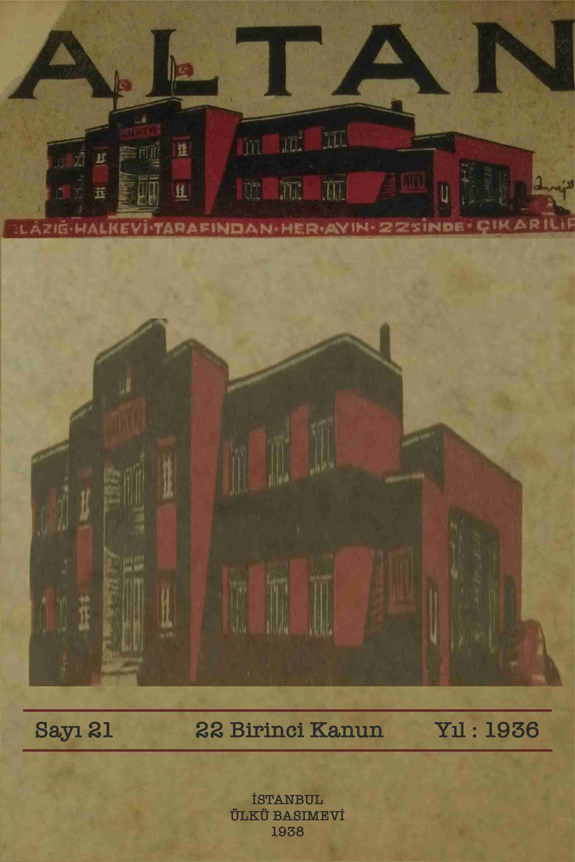 Halkevi Dergileri: Elaziz Altan Dergisi Sayı 21