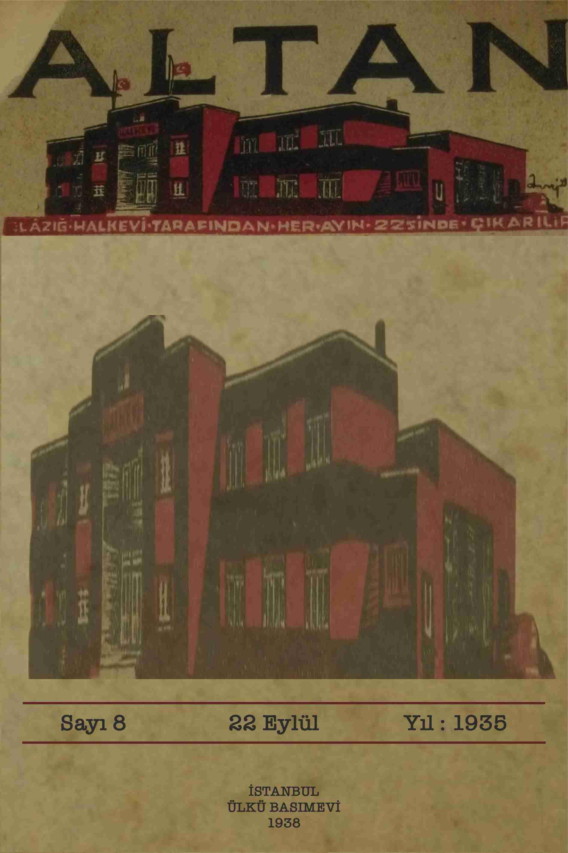 Halkevi Dergileri: Elaziz Altan Dergisi Sayı 8